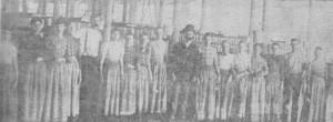 Card Room Trion Mill circa 1900