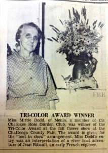 Miss Mittie Dodd wins at the 1964 county fair
