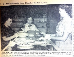 Judging the Winners at the fair 1955