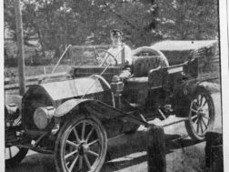 John Cleghorn,outstanding Summerville leader, in his 1910 Anhut automobile