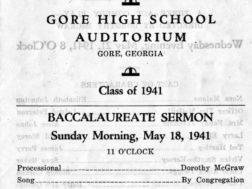Commencement exercises, Gore High School 1941