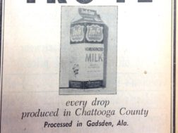 Tro-Fe Dairy, one of several in Chattooga County in the 1950's