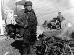 """The infamous"""" Goatman""""on one of his trips through the county circa 1965"""