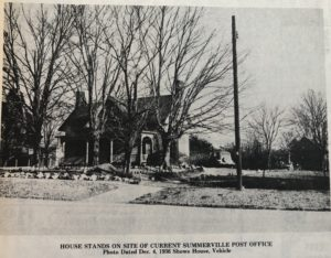 The Moyers home as seen if one were traveling north through Summerville